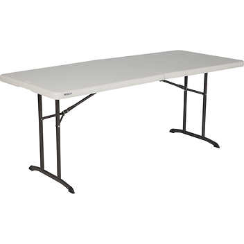 6 Ft Commercial Grade Fold In Half Table With Handle
